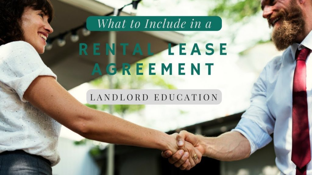 What to Include in a rental lease